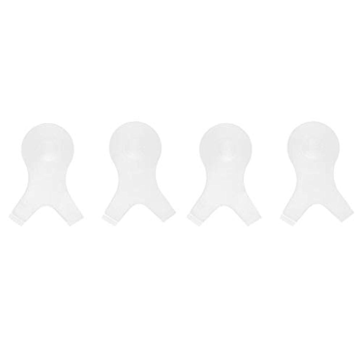 曲げる死の顎知っているに立ち寄る4個 Y字型 まつ毛パーシングブラシ まつ毛 エクステンションパーマ用 メイクアップツール