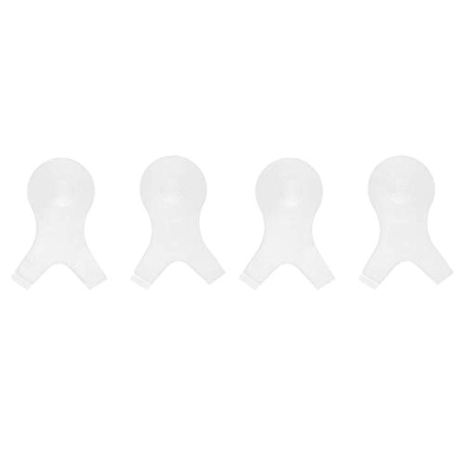 前に吸収好ましい4個 Y字型 まつ毛パーシングブラシ まつ毛 エクステンションパーマ用 メイクアップツール