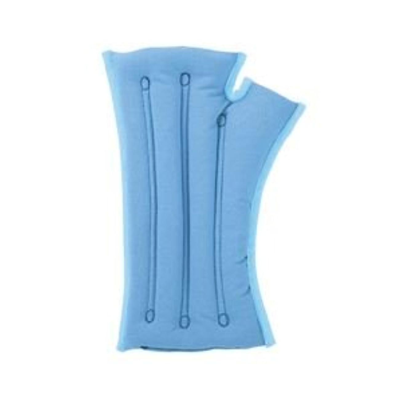 祝うリテラシー患者musshu(ムッシュ) 手首枕 サクラ咲く手首まくら(両手用) ブルー Lサイズ