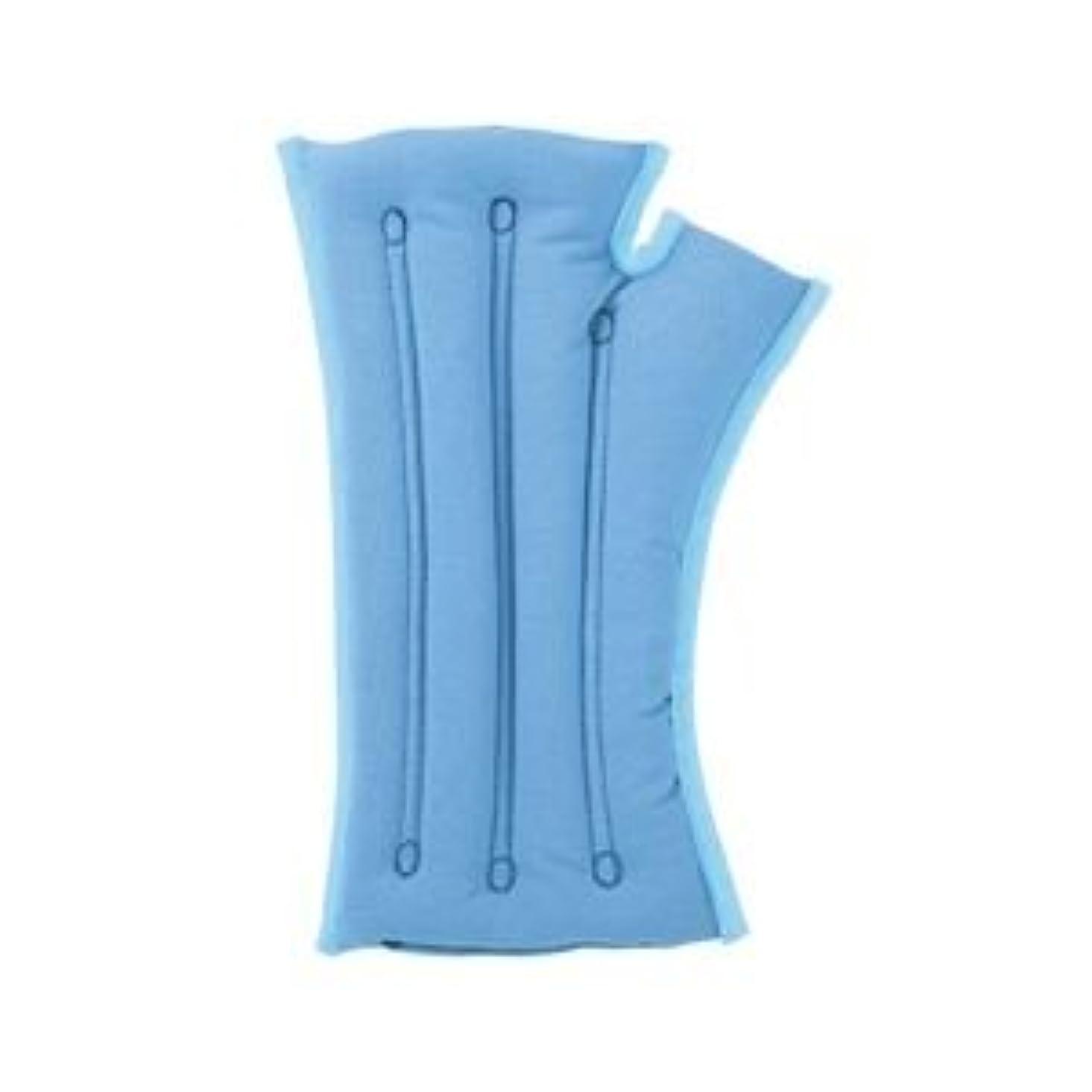 インチ定期的なだらしないmusshu(ムッシュ) 手首枕 サクラ咲く手首まくら(両手用) ブルー Lサイズ