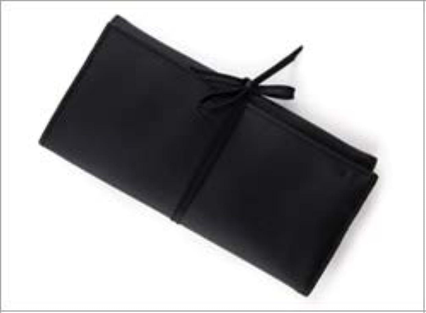 免疫敏感な故障中熊野筆 竹宝堂 正規品 ブラシケース(化粧ポーチ) C-24 材質:ナイロン(三つ折り) 広島 化粧筆