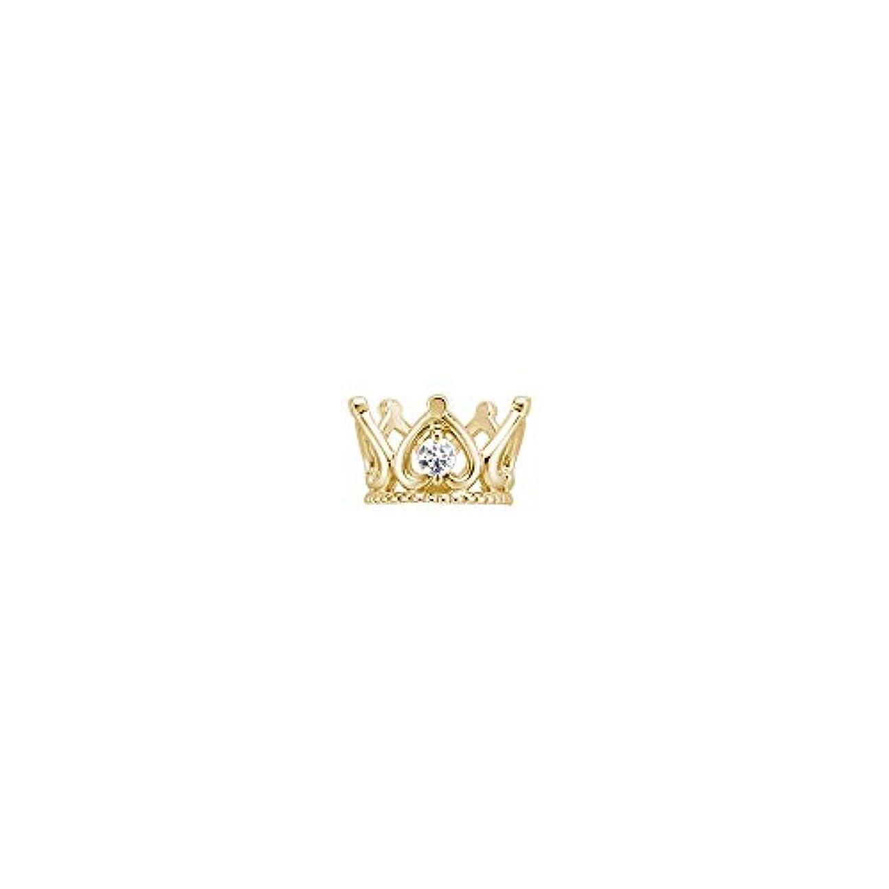 ひねくれた要塞ただJohnny&Rover(ジョニーアンドローバー) K10YGベビーリング/ダイヤモンド[CROWN]BE-001 イエローゴールド 0002640603