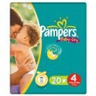 Pampers Baby Dry Size 4 (Maxi) Small Pack - 20 Nappies by Pampers