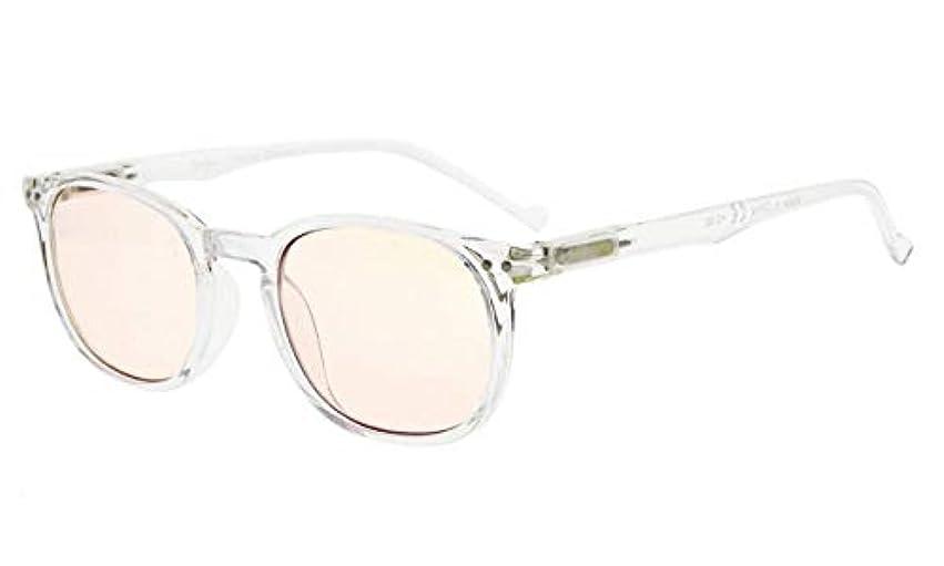 国家有力者農学アイキーパー(Eyekepper)ヴィンテージ パソコン用眼鏡 PCメガネ リーディンググラス 老眼鏡 読書用 ノングレア 眩しさカット UVカット メンズ レディース ケース&クロス付 (琥珀色レンズ,クリア)+0.5
