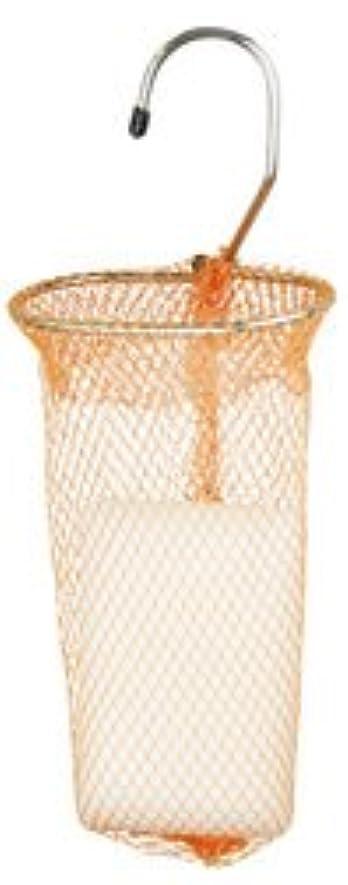 カーテン超高層ビルサラダ石けんネット リングタイプ 10枚組 オレンジ