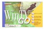 Hauppauge WinTV Go–TVチューナー/ビデオ入力アダプタ–PCI