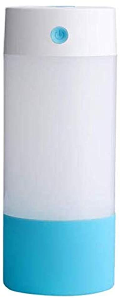はず安心させる緊張するSOTCE アロマディフューザー加湿器超音波霧化技術のライトカー満足のいく解決策美しい装飾ソフト変色 (Color : Blue)