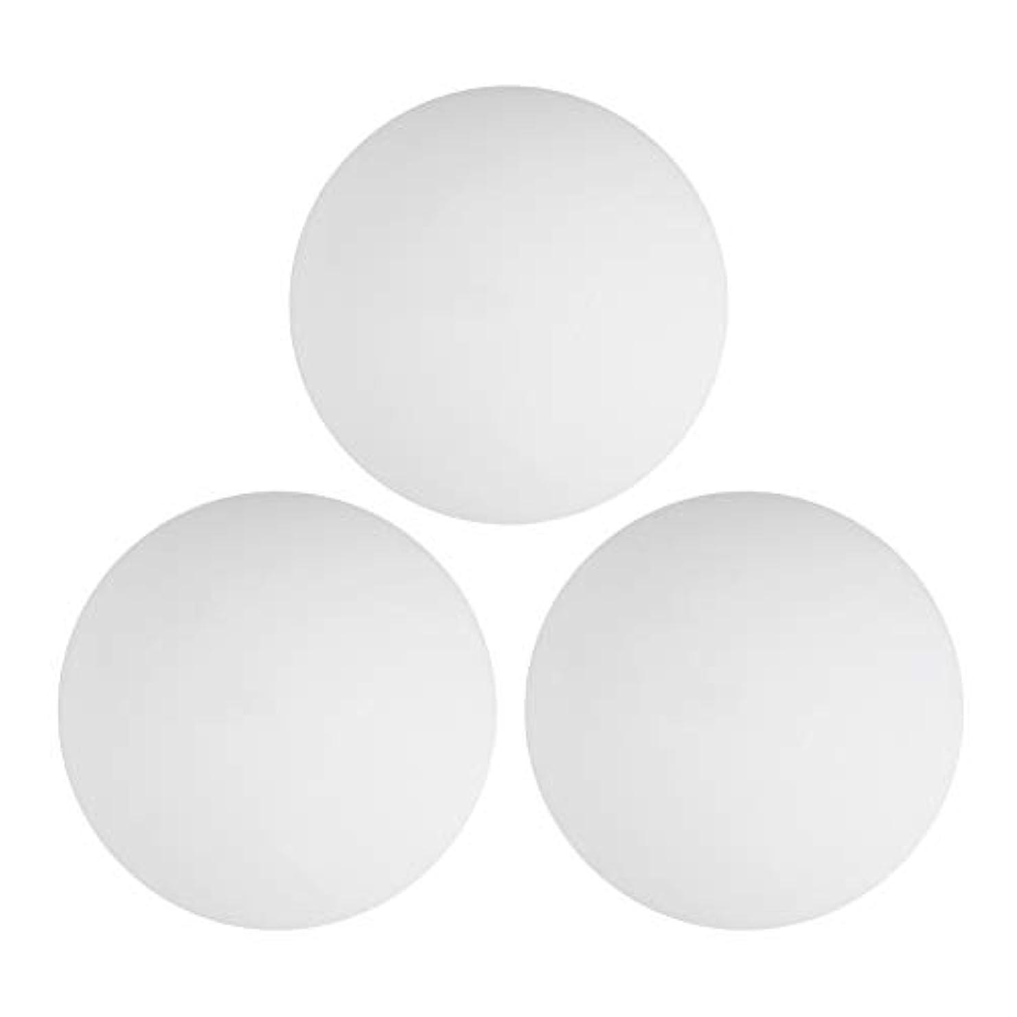 到着する溶かす飛ぶジャグリングボールセット、3PCS 9cm弾性ボールステージピエロパフォーマンスプロップマジックバウンスジャグリングボールおもちゃ(白い)