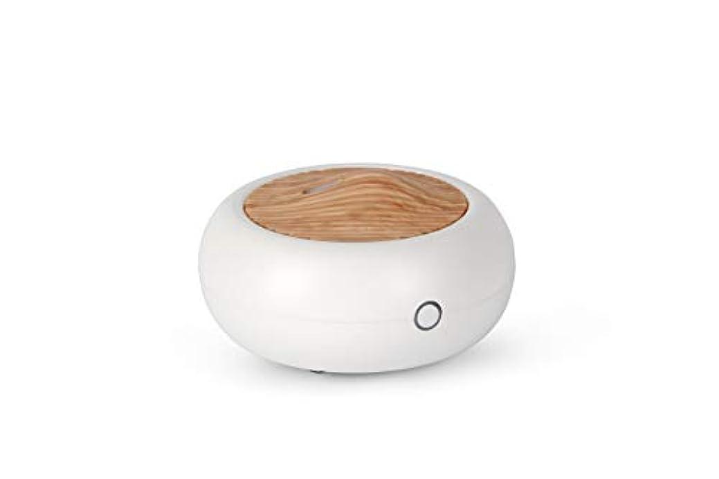 検出する四分円悲劇アロマディフューザーGA102-WD 加湿器 パーソナル卓上タイプ 木目調 Micro-USB 空焚き防止