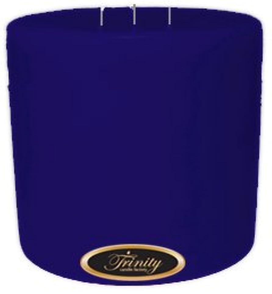 雨有力者裂け目Trinity Candle工場 – Blueberry Fields – Pillar Candle – 6 x 6