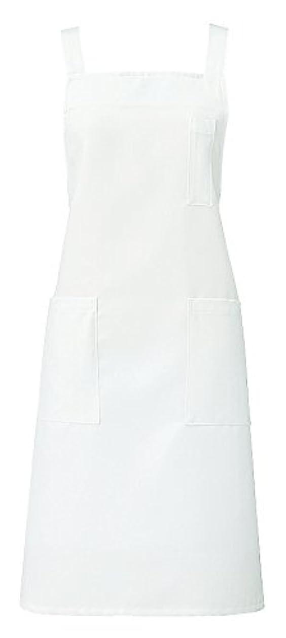 縞模様の財布プレゼントKAZEN カゼン 胸当てエプロン AP499-10(ホワイト)フリー