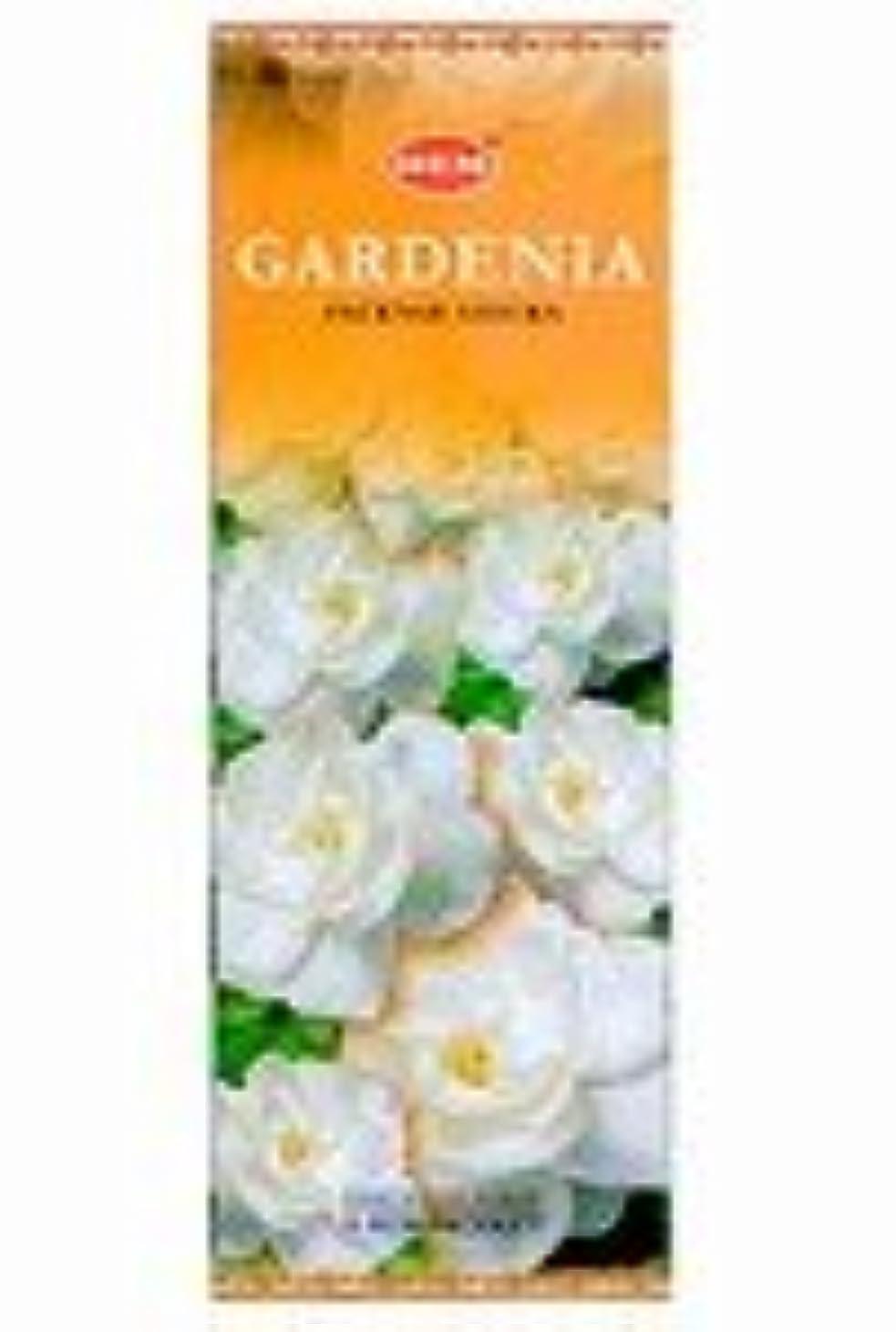 ピルファー年齢水っぽいHEM(ヘム)社 ガーデニア香 スティック GARDENIA 6箱セット