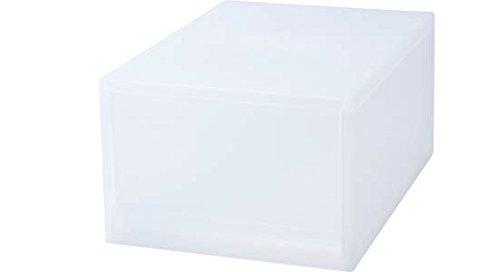 RoomClip商品情報 - 無印良品 ポリプロピレンケース引出式ハーフ・深型・1個(仕切付) (V)約幅14×奥37×高17.5cm 日本製