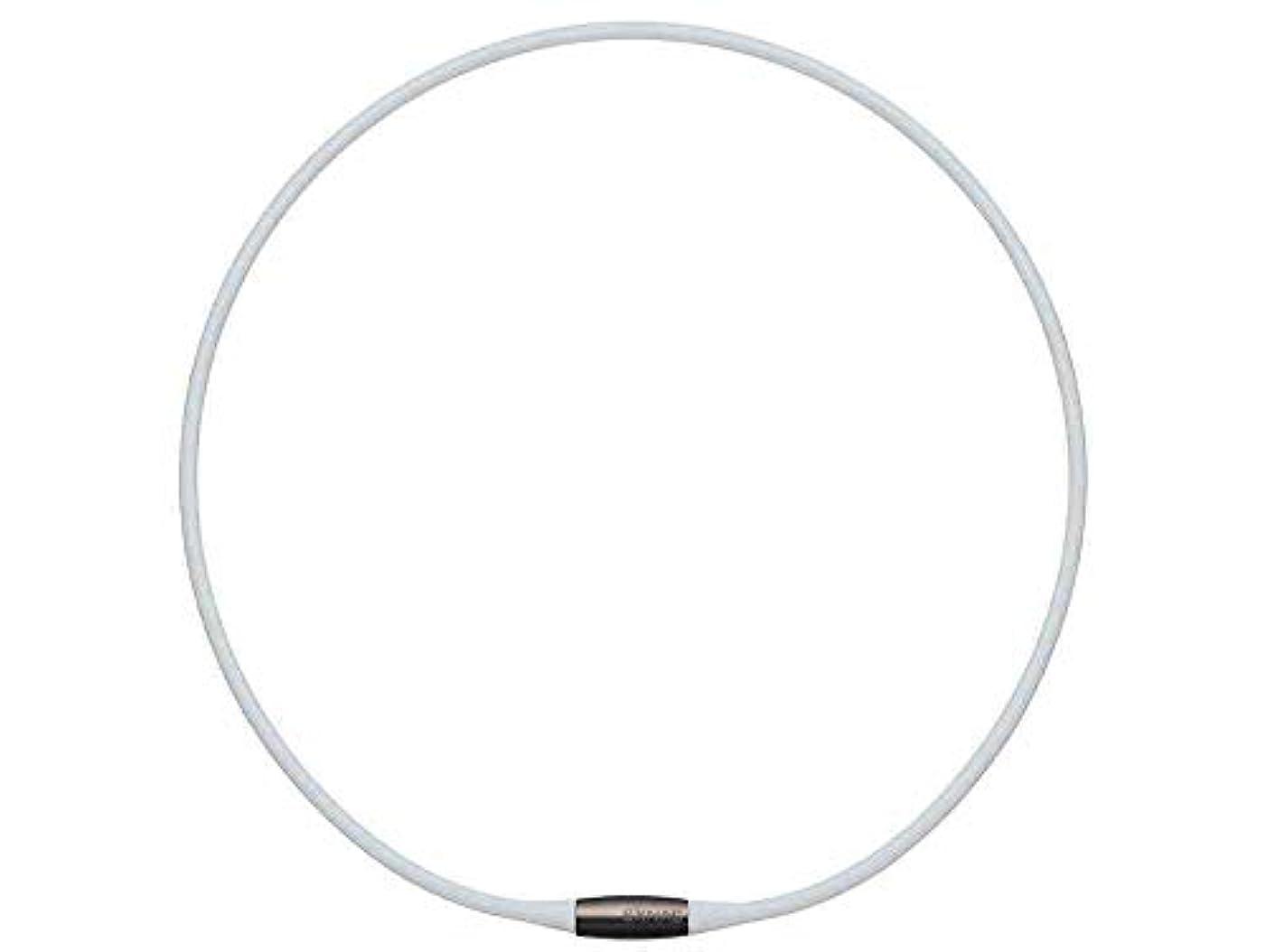 借りる低下カートンTDK EXNAS エクナス D1 磁気ネックレス 50cm-WHホワイト*ネオジウム磁石で肩、首の血行を促進させ、コリを改善!