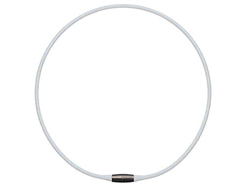 過度の台無しにシャッフルTDK EXNAS エクナス D1 磁気ネックレス 50cm-WHホワイト*ネオジウム磁石で肩、首の血行を促進させ、コリを改善!
