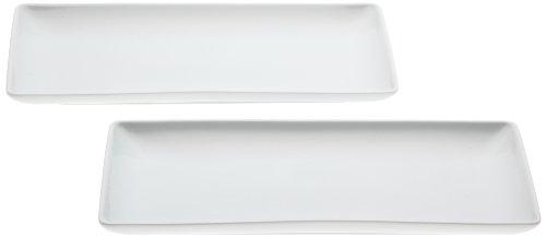 波佐見焼 すず白 長角皿 2枚セット MS-D2002