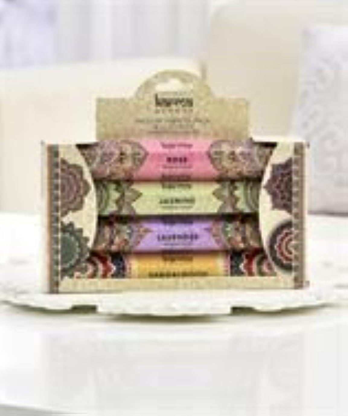 神学校フォージ逆Karma Scents Incense Variety Pack – 4 Assorted Fragrances