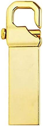 Uディスクステンレススチール USB 3.0高速 USB 3.0フラッシュドライブ2TB外部ストレージメモリースティック32GB-2TBポータブル (Color : Gold)