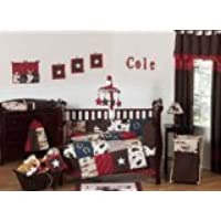 Sweet Jojo Designs 9-Piece Wild West Western Horse Cowboy Baby Boy Bedding Crib Set [並行輸入品]