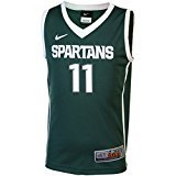 Michigan State Spartans NCAA Kids Basketball Jersey # 11グリーン