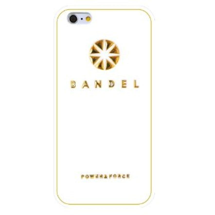 バレーボールスラムブロンズバンデル(BANDEL) ロゴ iPhone 7専用 シリコンケース [ホワイト×ゴールド]