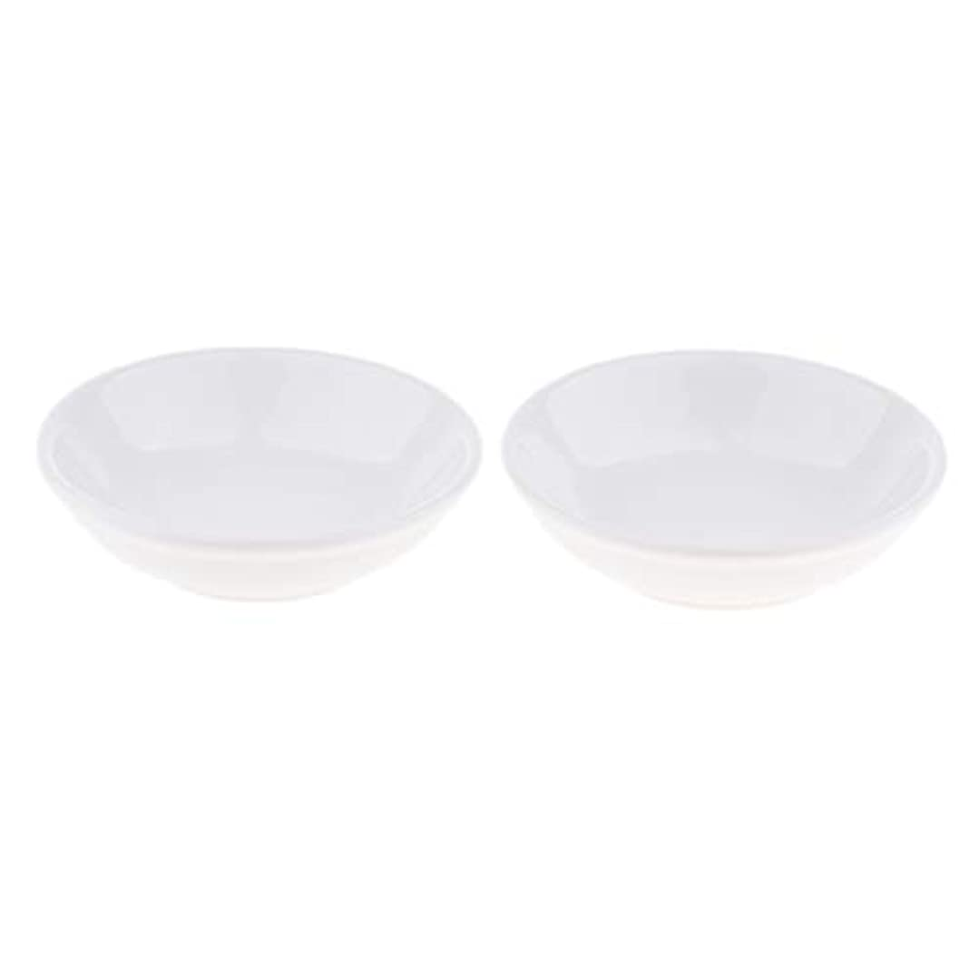 精神団結番号F Fityle 2個 交換用ディッシュ 皿 取り替え皿 セラミック 円形 オイルウォーマー 白