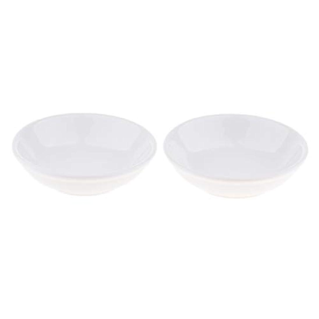 確保する単位ガウンディッシュ 皿 セラミック オイルウォーマー 取り替え用 装飾 置物 2個入