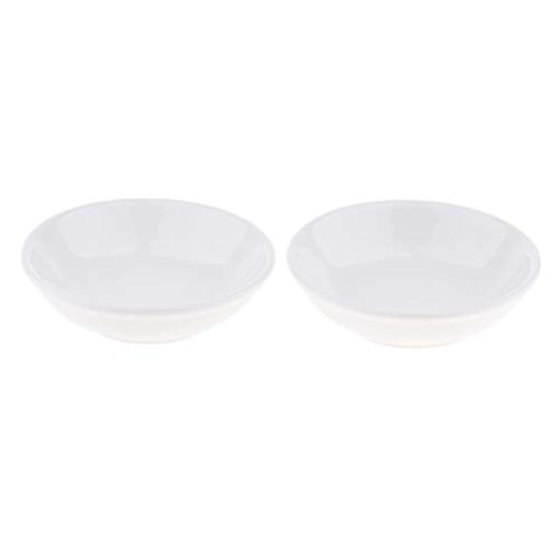 トライアスロンアナロジーキルト2個 交換用ディッシュ 皿 取り替え皿 セラミック 円形 オイルウォーマー 白