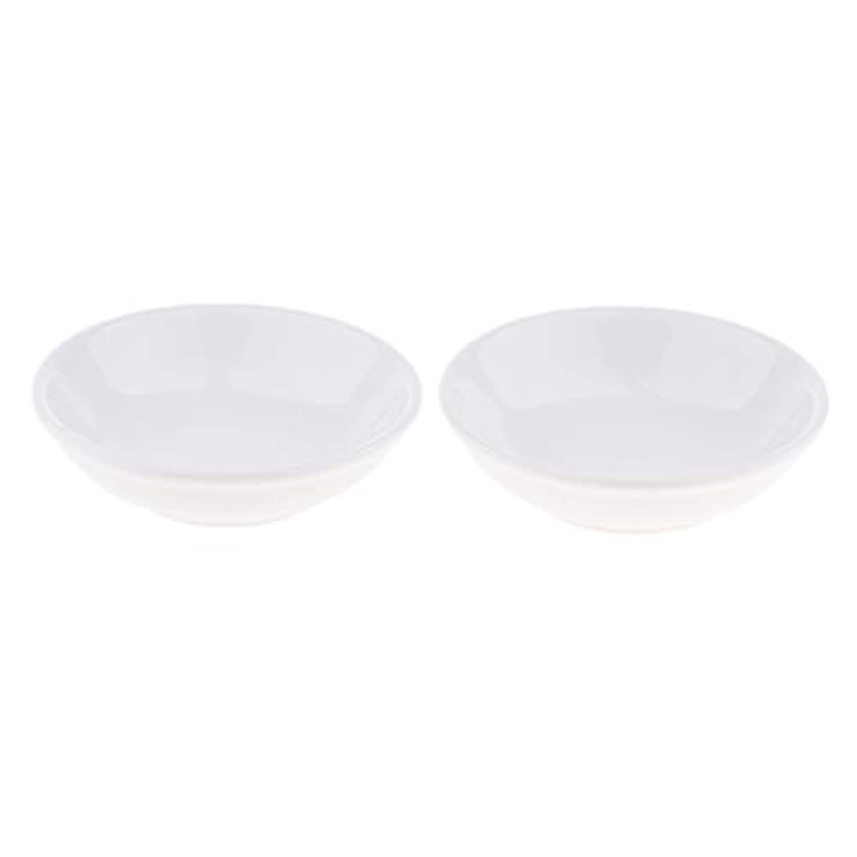 F Fityle 2個 交換用ディッシュ 皿 取り替え皿 セラミック 円形 オイルウォーマー 白
