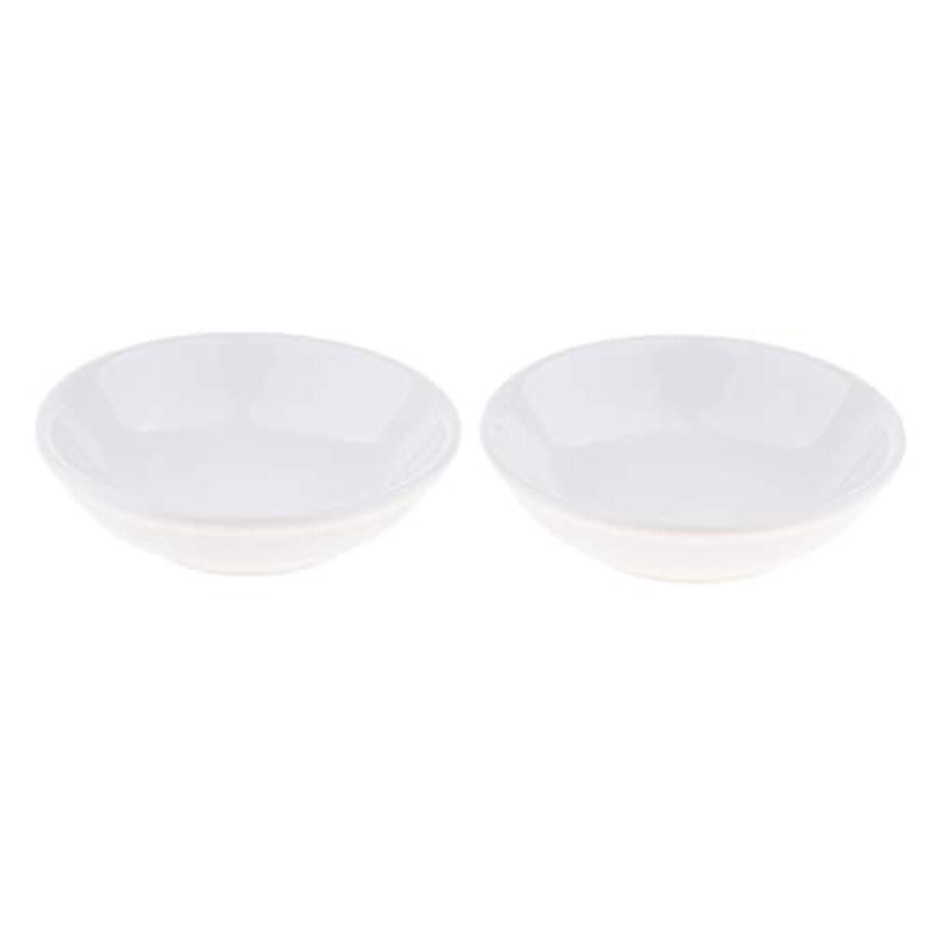 女将フェザー作りF Fityle 2個 交換用ディッシュ 皿 取り替え皿 セラミック 円形 オイルウォーマー 白