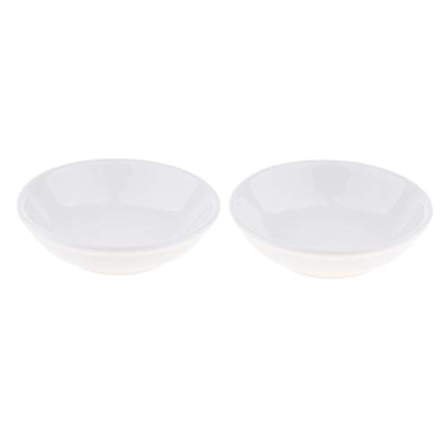 あらゆる種類のバラ色早くディッシュ 皿 セラミック オイルウォーマー 取り替え用 装飾 置物 2個入