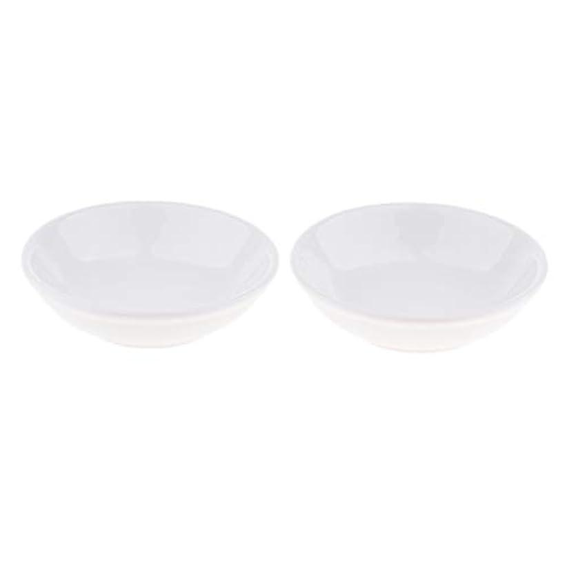ヘビー領域保守的B Blesiya ディッシュ 皿 セラミック オイルウォーマー 取り替え用 装飾 置物 2個入