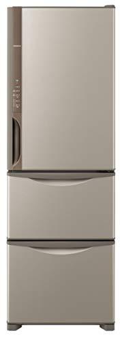 日立(HITACHI) 冷蔵庫 375L 3ドア 右開き 幅60.0cm 奥行66.5cm まんなか野菜タイプ うるおいチルド うるおい野菜室 ライトブラウン R-K38JV T B07C4JS85Y 1枚目