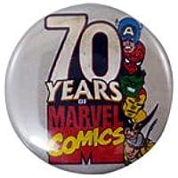◎ 70YEARS OF MARVEL COMICS 缶バッチ 缶バッジ マーベル スパイダーマン キャプテンアメリカ ハルク アイアンマン ウルバリン マイティーソー