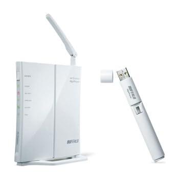 BUFFALO エントリーモデル 無線LANルーター Air Station セット(USB) WHR-HP-GN/U