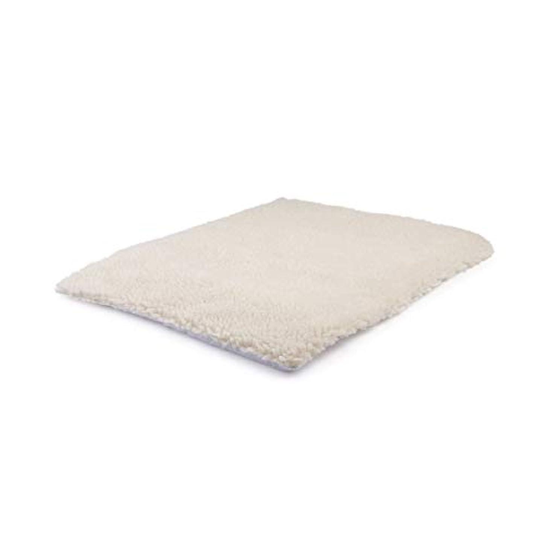 供給受付食欲Saikogoods 自己発熱ペット毛布 ペットベッド ウォッシャブル ノーエレクトリック スーパーソフト 子犬子猫毛布 ベッドマット ベージュ 640×460mm