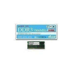 グリーンハウス ノート用 PC3-8500 204pin DDR3 SDRAM SO-DIMM 4GB GH-DWT1066-4GB