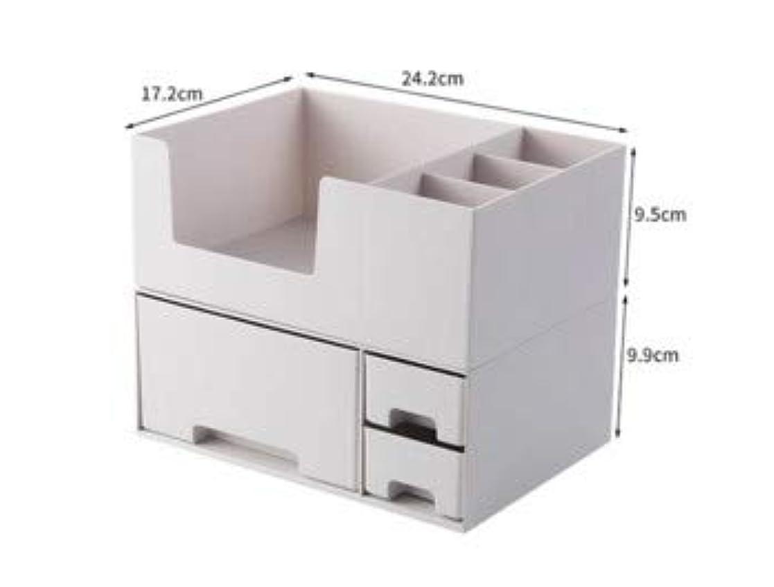 位置づける飛び込む無意識化粧品収納ボックスプラスチックデスクトップ仕上げボックスマスクスキンケア製品ラック口紅ボックス収納 (Color : ホワイト)