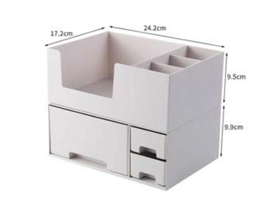 コンクリート脚本囲い化粧品収納ボックスプラスチックデスクトップ仕上げボックスマスクスキンケア製品ラック口紅ボックス収納 (Color : ホワイト)