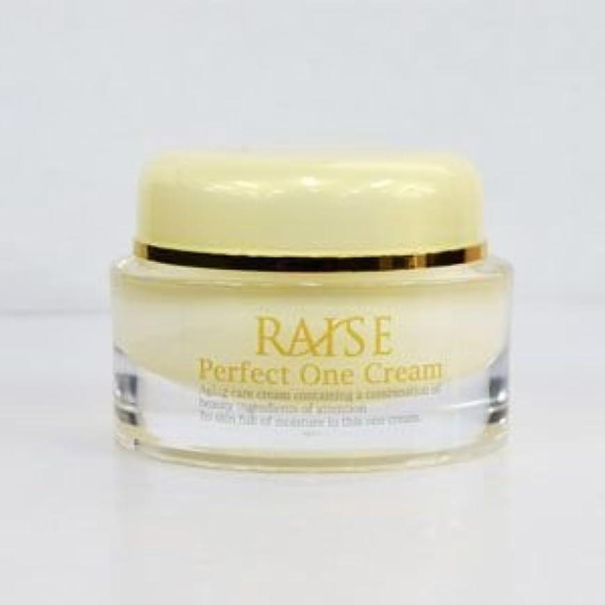 性的電子レンジ発疹RAISE (レイズ) Perfect One Cream パーフェクトワンクリーム 活性型FGF 活性型EGF 馬プラセンタ コラーゲン オールインワン クリーム 50g