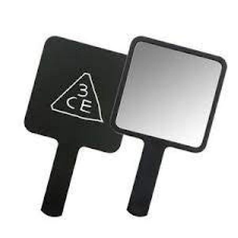 溝難しい三角スリーコンセプトアイズ 3CE ミニ ハンド ミラー #BLACK