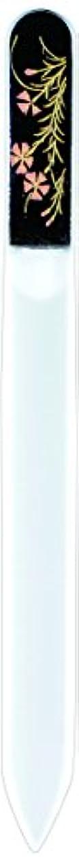 行商人ビジターりんご橋本漆芸 ブラジェク製高級爪ヤスリ 七月 朝顔 紙箱