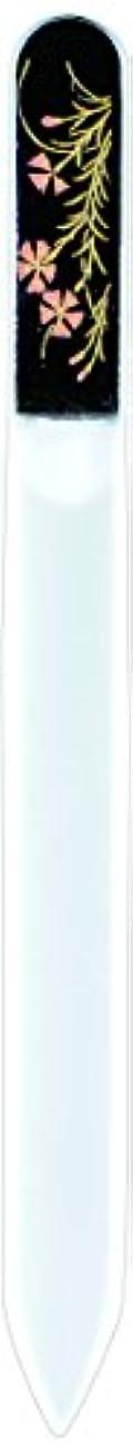 ハンカチ有罪クリスチャン橋本漆芸 ブラジェク製高級爪ヤスリ 七月 朝顔 紙箱