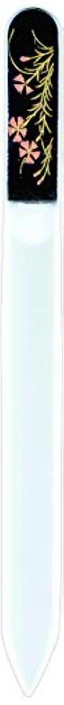 ビーム残り物かんたん橋本漆芸 ブラジェク製高級爪ヤスリ 七月 朝顔 紙箱