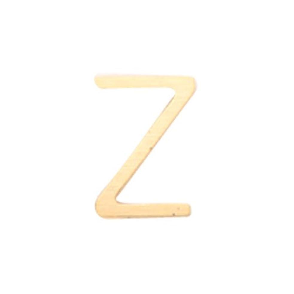 ヘクタール非難するアミューズメントリトルプリティー ネイルアートパーツ アルファベット Z ゴールド 10個