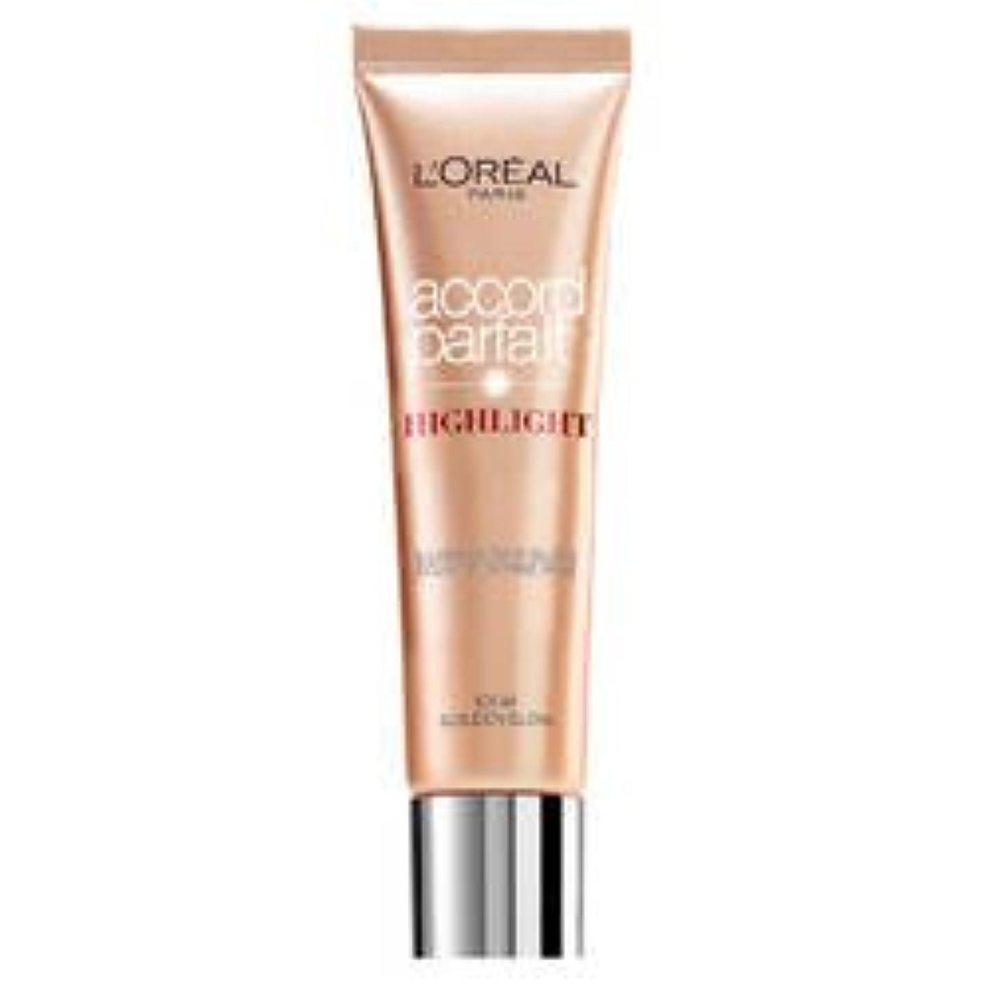 水っぽい米国コンパクトL 'Oréal Paris Accord Parfait Highlight Enlumineur Liquide 101 Dore