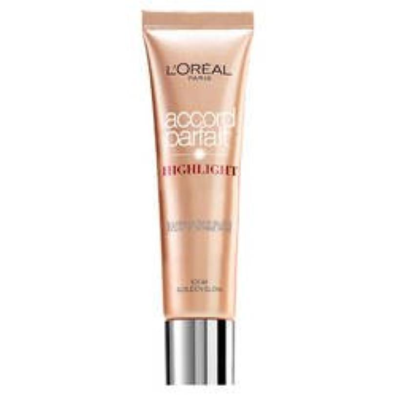 認識支配する酔っ払いL 'Oréal Paris Accord Parfait Highlight Enlumineur Liquide 101 Dore
