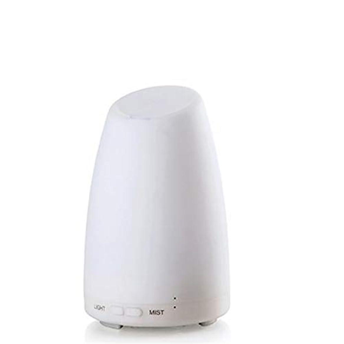 怖いムス省略するエッセンシャルオイルディフューザー、霧コントロール4h 使用、低水自動シャットダウン、7種類の LED ライト、家庭、オフィス、寝室、家族のベビールームとの超音波 100 ml アロマディフューザー