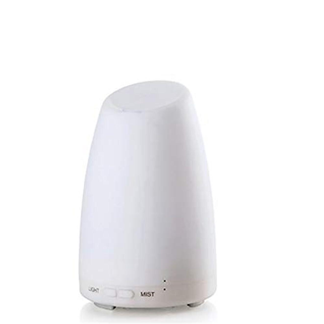 エッセンシャルオイルディフューザー、霧コントロール4h 使用、低水自動シャットダウン、7種類の LED ライト、家庭、オフィス、寝室、家族のベビールームとの超音波 100 ml アロマディフューザー