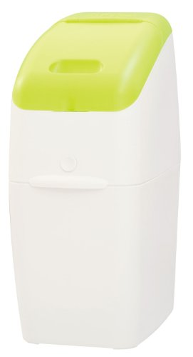 Aprica (アップリカ) 紙おむつ処理ポット におわなくてポイ 消臭タイプ 本体 グリーン 09121 「消臭」・「抗菌」・「防臭」可